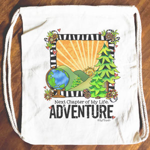 Next Chapter: Adventure - Drawstring Backpack - Tote bag