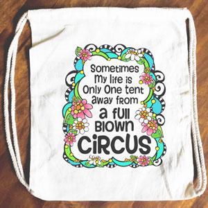Circus - Drawstring Backpack - Tote bag