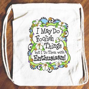 Foolish Things - Drawstring Backpack - Tote bag