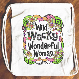Wacky Women - Drawstring Backpack - Tote bag