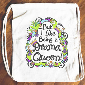 Drama Queen - Drawstring Backpack - Tote bag