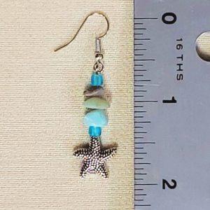 Starfish Dreams earrings - size