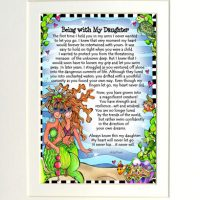 """Being with My Daughter (Divas of the Deep) – 8 x 10 Matted """"Gifty"""" Art Print"""