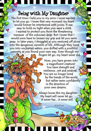 Being with My Daughter - Gifty Art Print