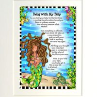"Being with My Baby (Divas of the Deep) – 8 x 10 Matted ""Gifty"" Art Print"
