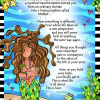 """Being with My Baby (Divas of the Deep) – 8 x 10 Matted """"Gifty"""" Art Print"""