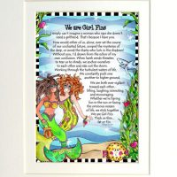"""We are Girl 'Fins (Divas of the Deep) – 8 x 10 Matted """"Gifty"""" Art Print"""