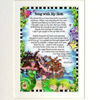 """Being with My Mom (Divas of the Deep) – 8 x 10 Matted """"Gifty"""" Art Print"""