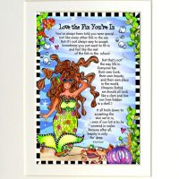 "Love the Fin You're In (Divas of the Deep) – 8 x 10 Matted ""Gifty"" Art Print"