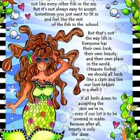 """Love the Fin You're In (Divas of the Deep) – 8 x 10 Matted """"Gifty"""" Art Print"""