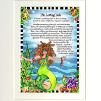 "I'm Loving Life (Divas of the Deep) – 8 x 10 Matted ""Gifty"" Art Print"