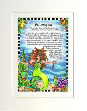 Loving Life - matted Gifty Art Print