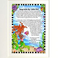 """Being with My Little Girl (Divas of the Deep) – 8 x 10 Matted """"Gifty"""" Art Print"""