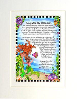 Little Girl - matted Gifty Art Print