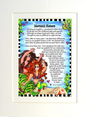 Sisters - matted Gifty Art Print