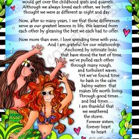 "Mermaid Sisters (Divas of the Deep) – 8 x 10 Matted ""Gifty"" Art Print"