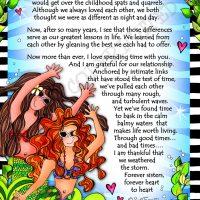 "Mermaid Sisters (Divas of the Deep) – 8 x 10 Matted ""Gifty"" Art Print"