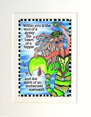 enchanted Mermaid - Matted Gifty Art Print