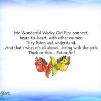 Wonderful Wacky Girl 'Fins – (Dives of the Deep) Note Cards