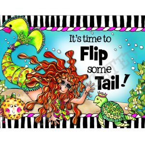 Flip Some Tail Note Card