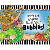 Don't Let Anyone Burt Your Bubbles! – (Dives of the Deep) Note Cards