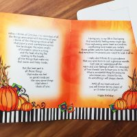 Happy Birthday You Really Are an October Kinda Girl (Birthday of the Month) – Greeting Card