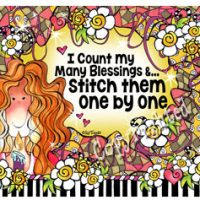 I count my Many Blessings & …Stitch them One by One – Mouse Pad
