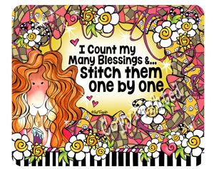 Count blessings QUILT - mousepad