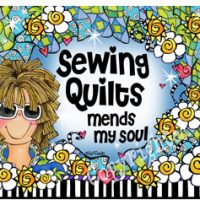 Sewing Quilts mend my soul – Mouse Pad