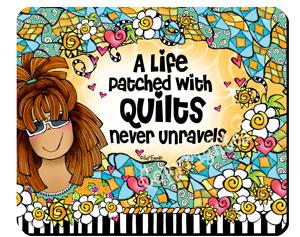 never unravels QUILT - mousepad