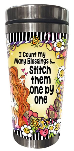 Count blessings QUILT - Stainless Steel tumbler - FRONT
