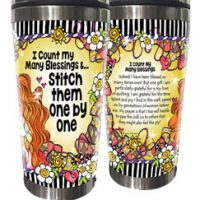 I Count My Many Blessings &…  Stitch them One by One – Stainless Steel Tumbler