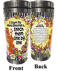 Count blessings QUILT - Stainless Steel tumbler