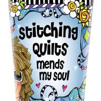 Stitching Quilts mends my soul – Stainless Steel Tumbler
