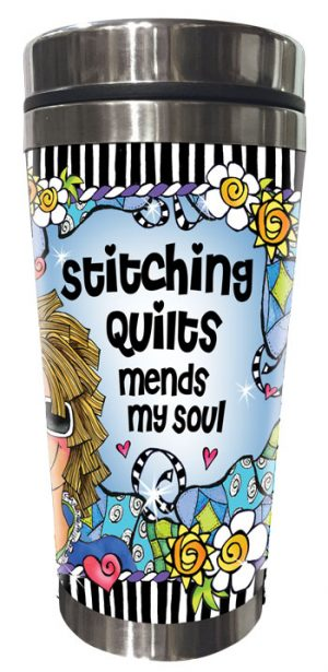 Mends my Soul QUILT - Stainless Steel Tumbler - FRONT