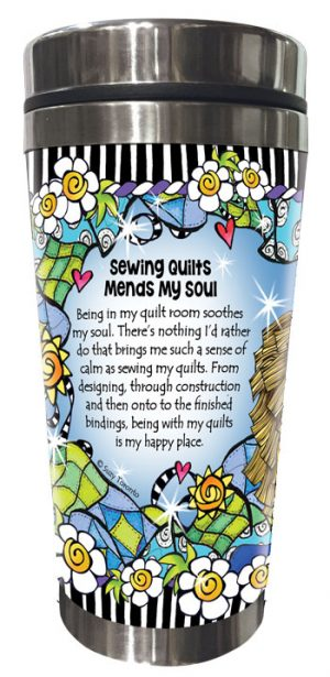 Mends my Soul QUILT - Stainless Steel Tumbler - BACK