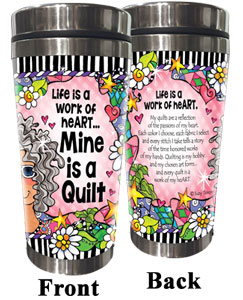 work of Heart QUILT - Stainless Steel Tumbler