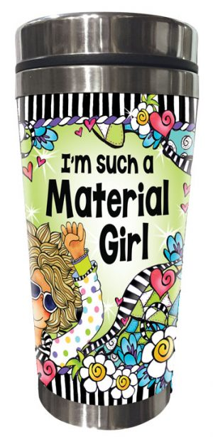 Material girl QUILT - Stainless Steel tumbler - FRONT