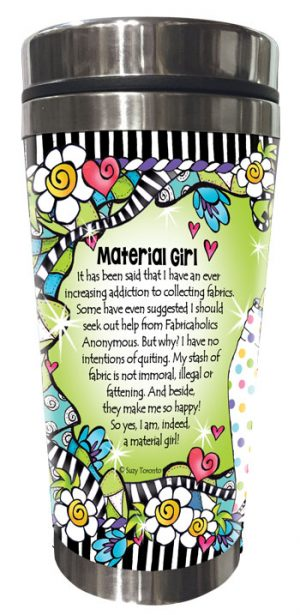 Material girl QUILT - Stainless Steel tumbler - BACK