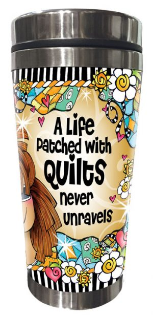 never unravels QUILT - Stainless Steel Tumbler - FRONT