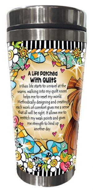 never unravels QUILT - Stainless Steel Tumbler - BACK