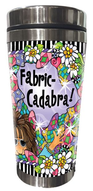 Fabric-cadabra QUILT - Stainless Steel Tumbler - FRONT
