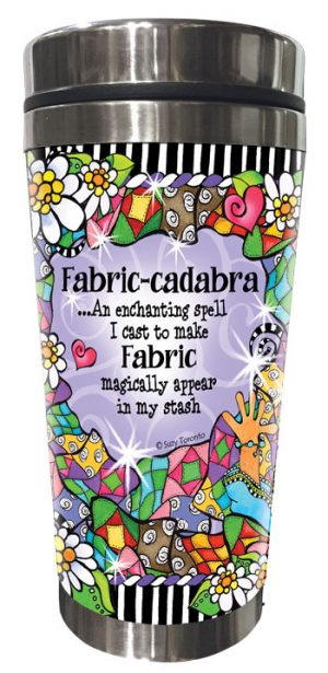 Fabric-cadabra QUILT - Stainless Steel Tumbler - BACK
