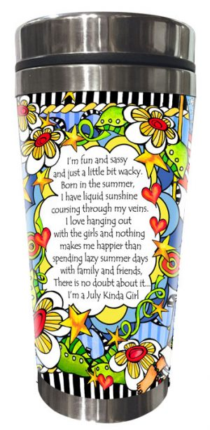 JULY - BACK - Stainless Steel Tumbler