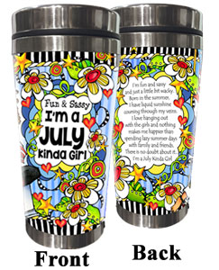JULY - Stainless Steel Tumbler