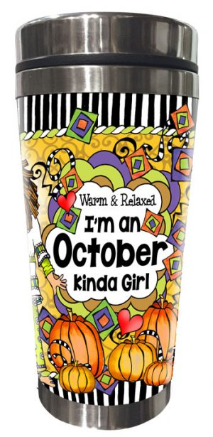 OCTOBER - FRONT - Stainless Steel Tumbler