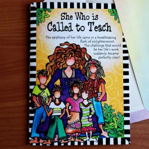 Teacher greeting card - outside