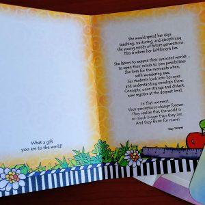 Teacher greeting card - inside