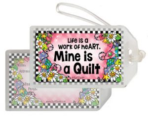 work of Heart QUILT - bag tag