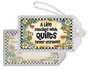 never unravels QUILT - bag tag